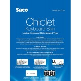 Saco Chiclet Keyboard Skin for HP 15-AB032TX 15.6-inch Laptop -Black with Clear